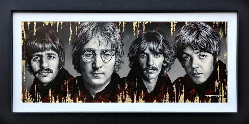 The Fab Four - Original - Black - Framed by Ben Jeffery