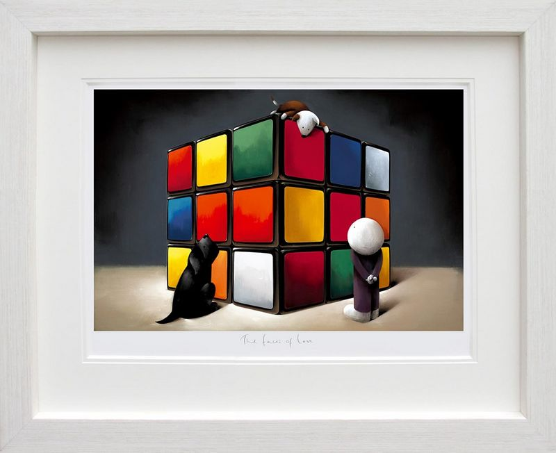 The Faces Of Love - White Framed by Doug Hyde
