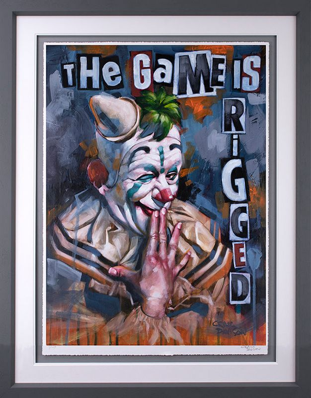 The Game Is Rigged - Artist Proof Grey - Framed by Craig Davison