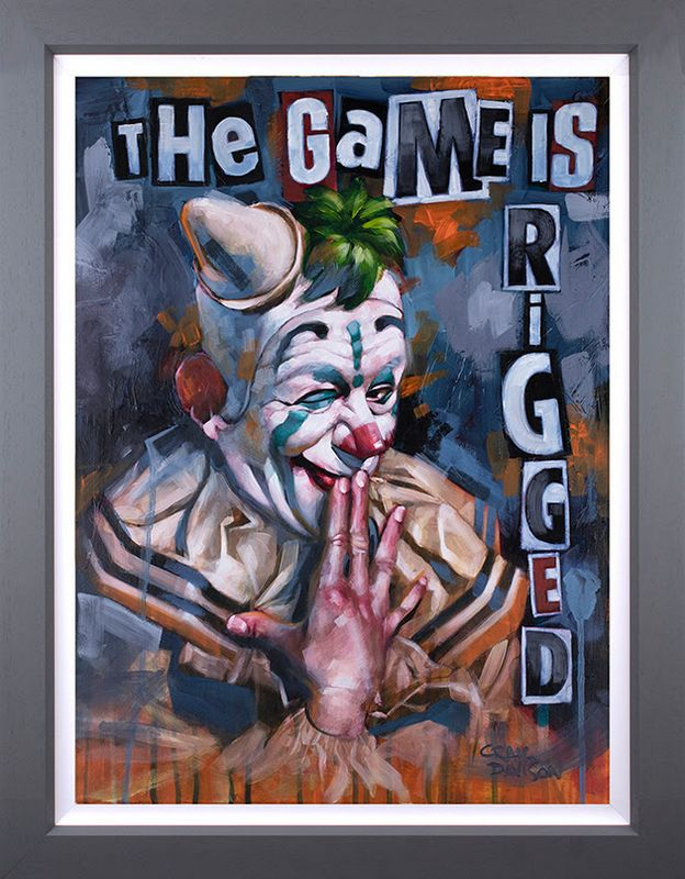 The Game Is Rigged - Deluxe - Artist Proof Grey - Framed by Craig Davison