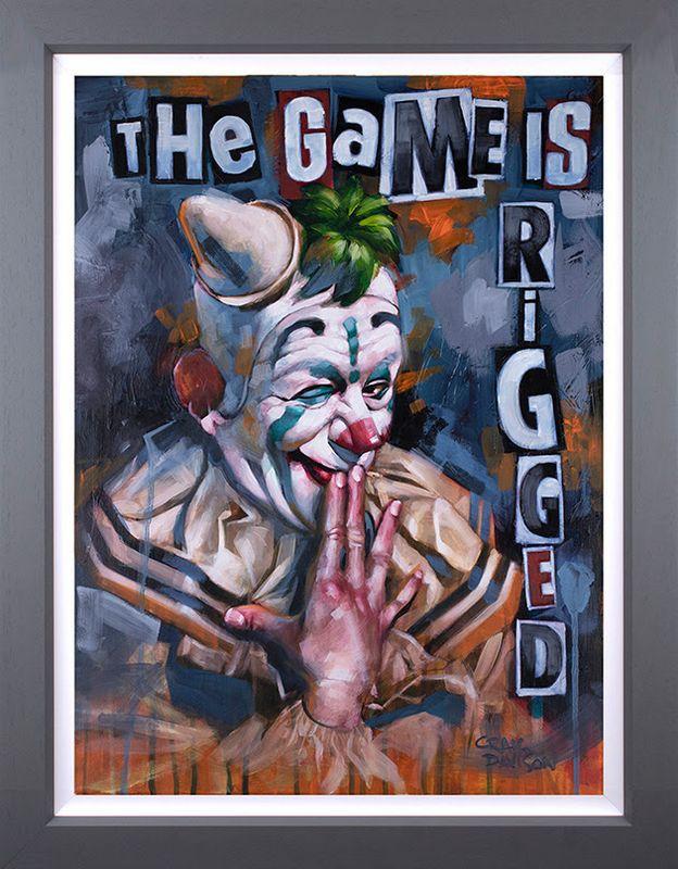 The Game Is Rigged - Original - Grey - Framed by Craig Davison