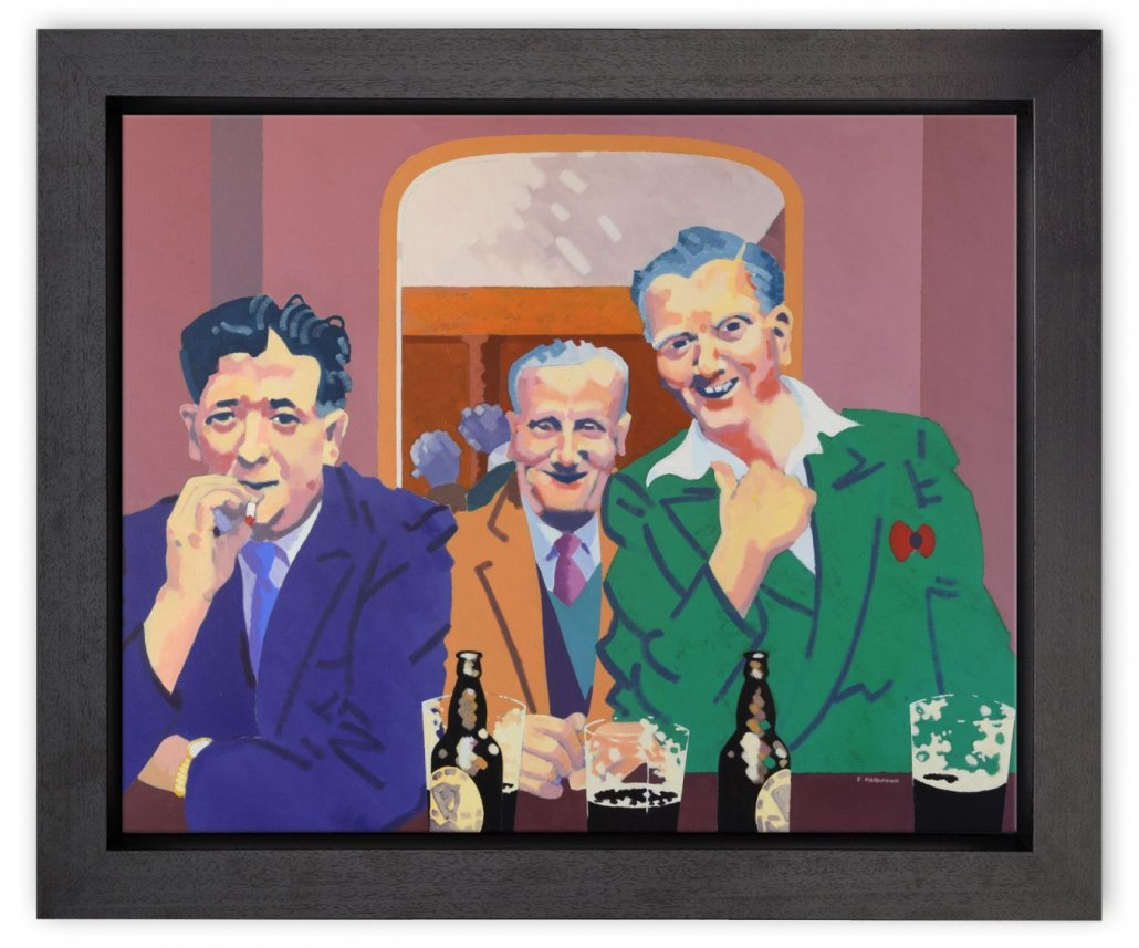 The Joke - Box Canvas - Framed Box Canvas by Frank Harwood