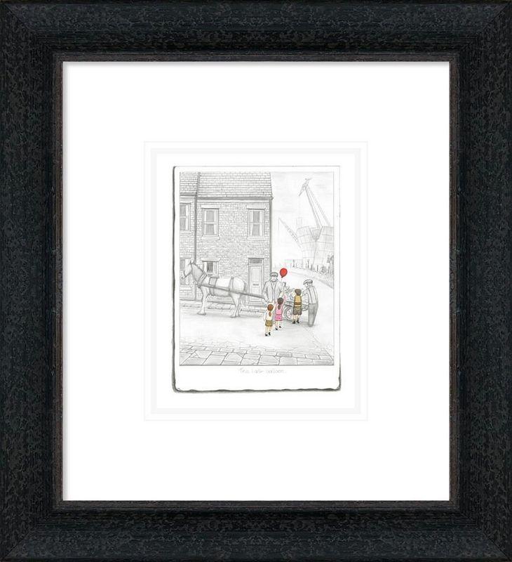The Last Balloon - Sketch - Framed by Leigh Lambert