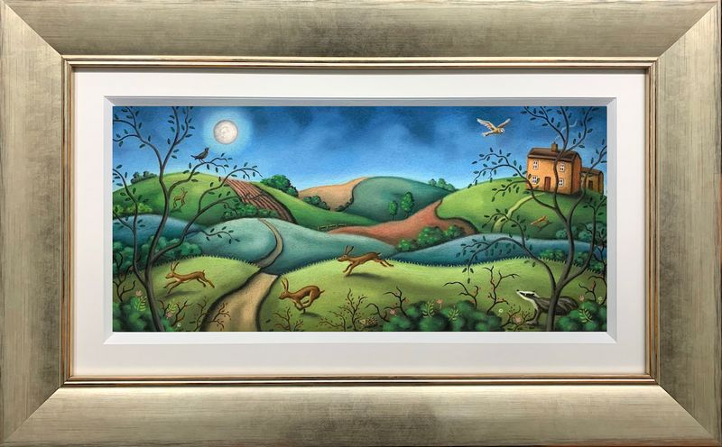 The Mad Mad Moonlight - Original - Framed by Paul Horton