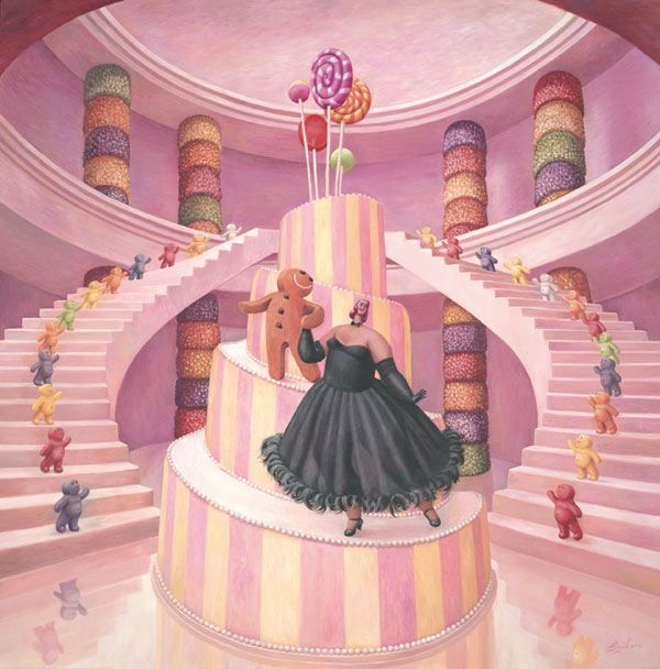 The Merry Widow (Canvas) - Box Canvas by Sarah Jane Szikora