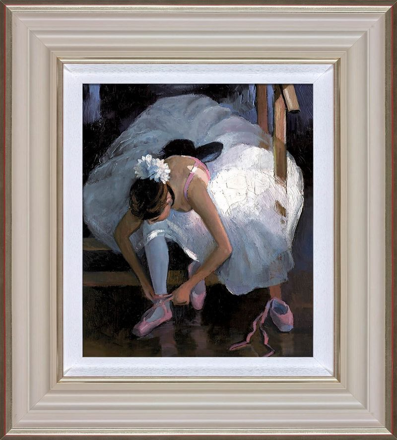 The Pink Slipper - Cream - Framed by Sherree Valentine Daines