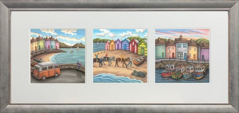 The Seaside Suite - Landscape Presentation - Framed by Paul Horton