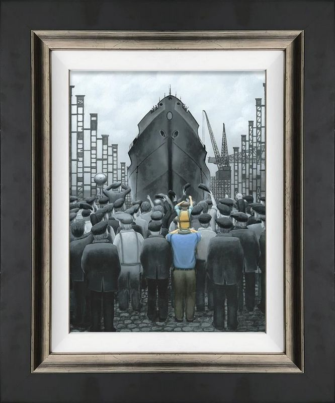 The Ship That Dad Built - Canvas - Framed by Leigh Lambert