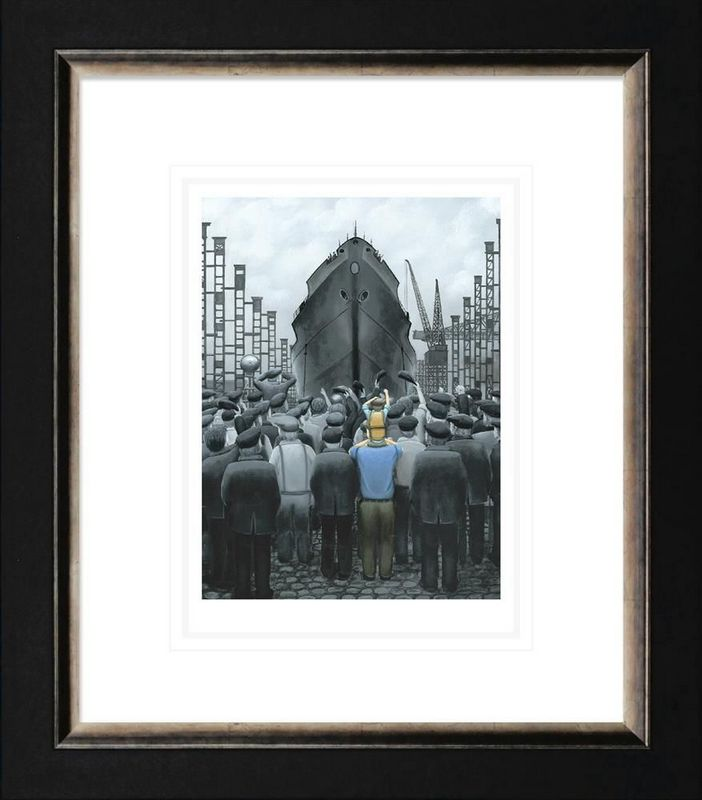 The Ship That Dad Built - Framed by Leigh Lambert