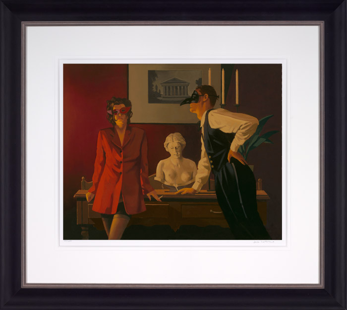 The Sparrow and the Hawk - Framed by Jack Vettriano