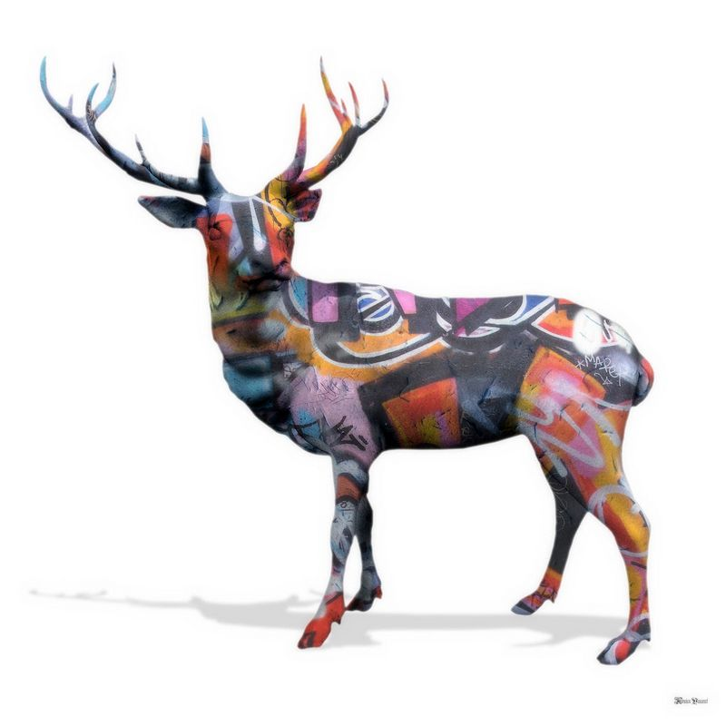 The Stag Do - Regular - White - Mounted by Monica Vincent
