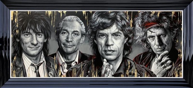The Stones - Limited Edition - Black - Framed by Ben Jeffery
