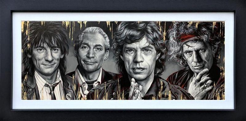 The Stones - Original - Black - Framed by Ben Jeffery