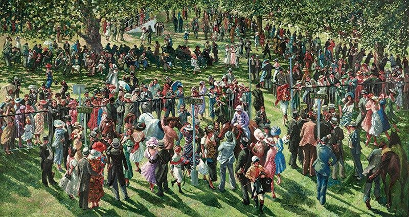 The Winners Enclosure Ascot by Sherree Valentine Daines