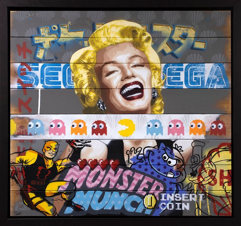 There's So Much To Smile About Marilyn Monroe #3 - Original - Black - Framed by Zombi *Zombiedan
