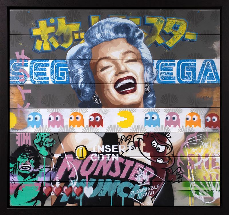 There's So Much To Smile About Marilyn Monroe #5 - Original - Black - Framed by Zombi *Zombiedan