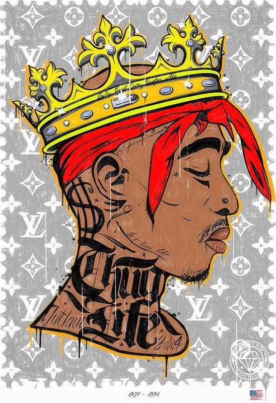 Thug Life - Tupac - Artist Proof - Mounted by JJ Adams