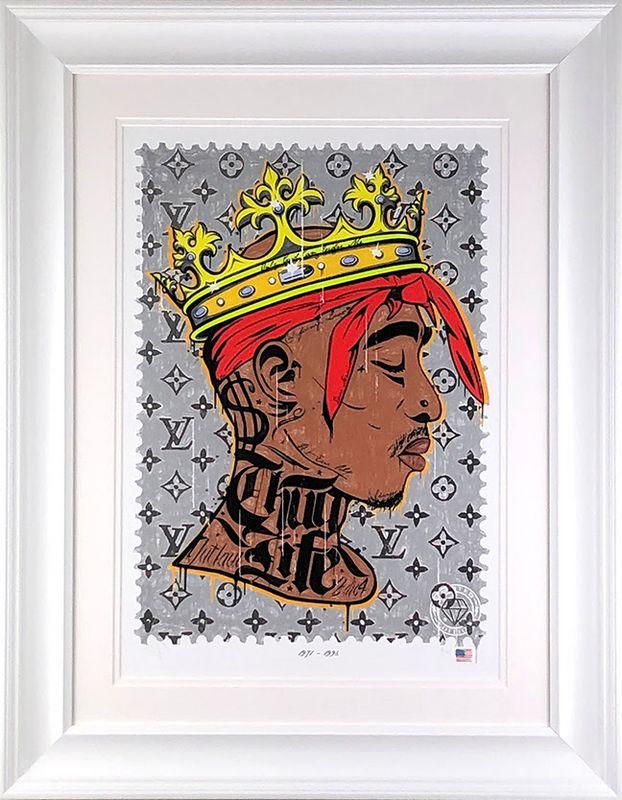 Thug Life - Tupac - Artist Proof White - Framed by JJ Adams