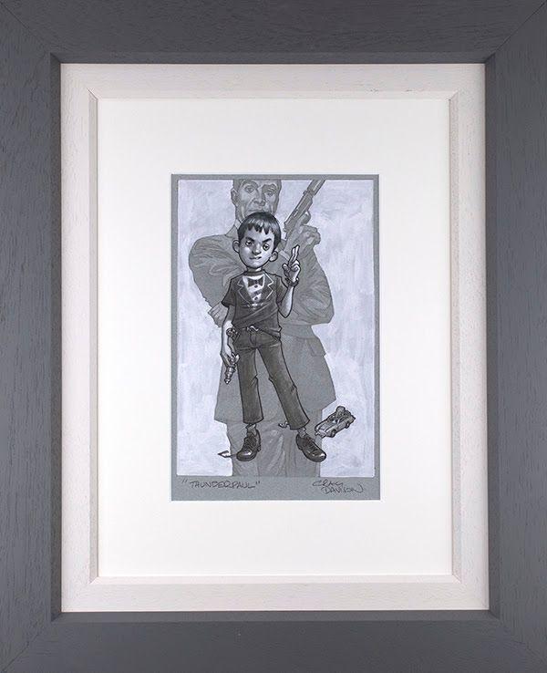 Thunderpaul - Sketch - Grey - Framed by Craig Davison