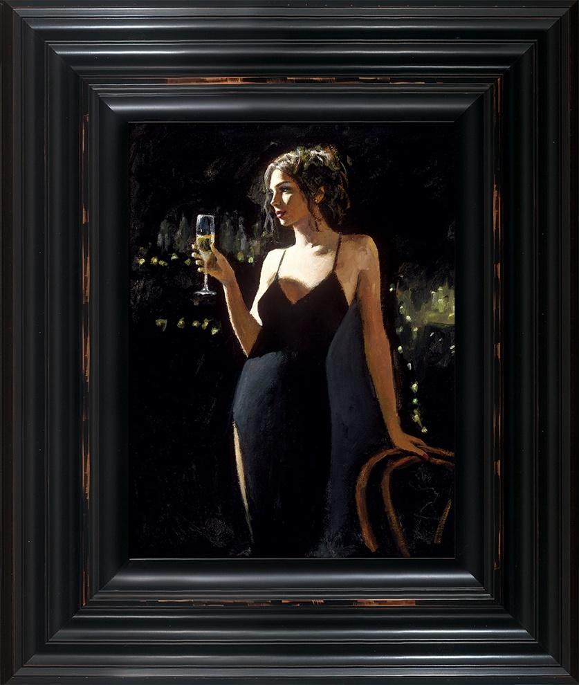 Tiffany With Champagne - Framed by Fabian Perez