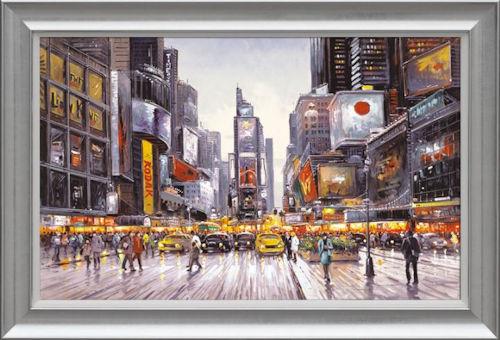 Times Square Morning - Framed