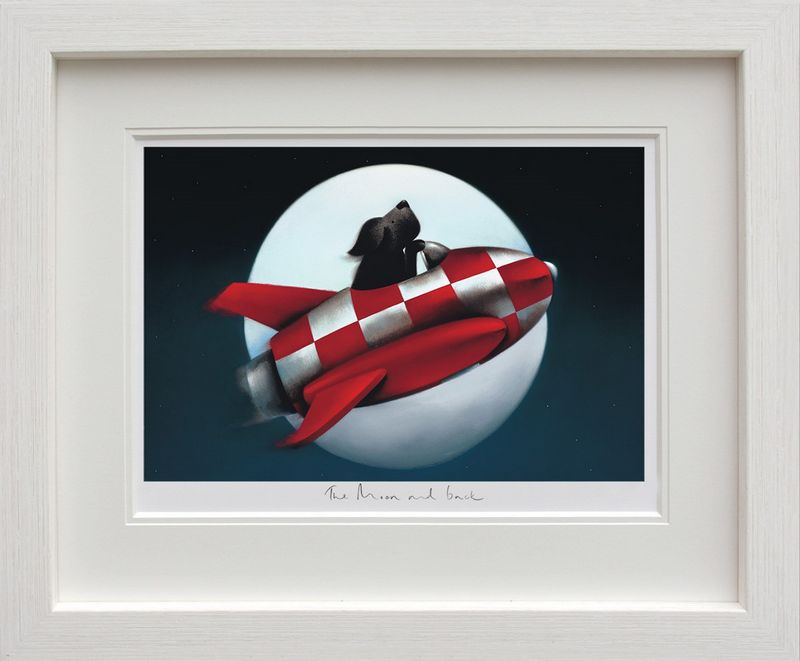 The Moon And Back - Framed by Doug Hyde