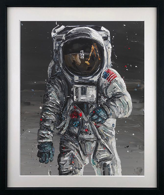 To The Moon - Black - Framed by Paul Oz