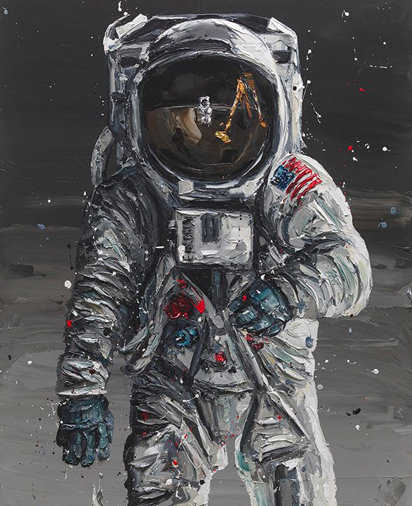 To The Moon - Buzz Aldrin by Paul Oz