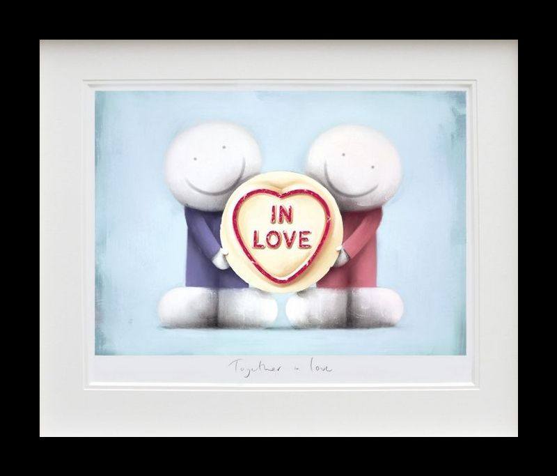 Together In Love - Black Framed by Doug Hyde