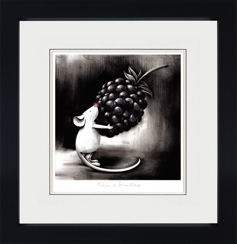 Token Of Friendship - Black Framed by Doug Hyde