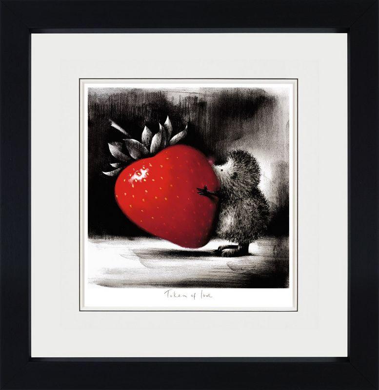 Token Of Love - Black - Framed by Doug Hyde