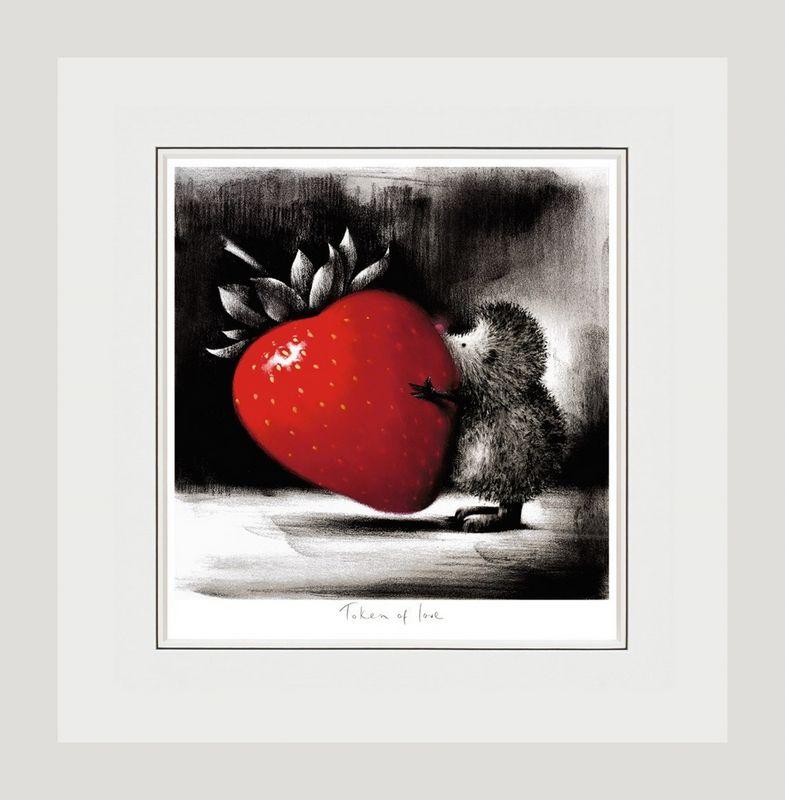 Token Of Love - White - Framed by Doug Hyde