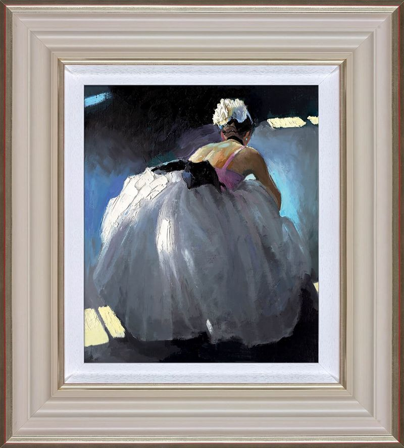 Tranquil Beauty - Cream - Framed by Sherree Valentine Daines