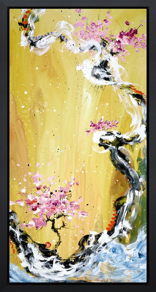 Trilogy Of Wonder I - Black Framed Box Canvas by Danielle O'Connor Akiyama