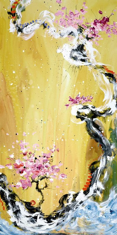 Trilogy Of Wonder I - White Framed Box Canvas by Danielle O'Connor Akiyama
