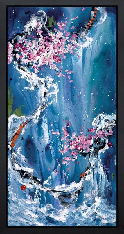Trilogy of Wonder II - Black Framed Box Canvas by Danielle O'Connor Akiyama