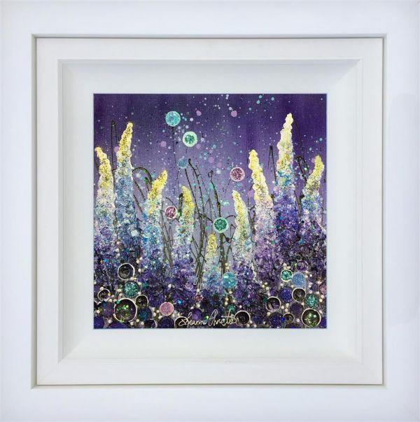 Twilight Shimmer - Original - White Framed by Leanne Christie