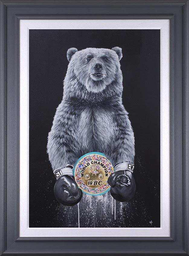 Tyson Fury - WBC - Original - Grey Framed  by Dean Martin *Mad Artist