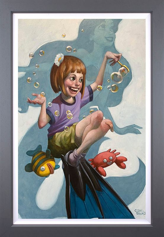 Under The Sea - Canvas - Artist Proof Grey - Framed by Craig Davison