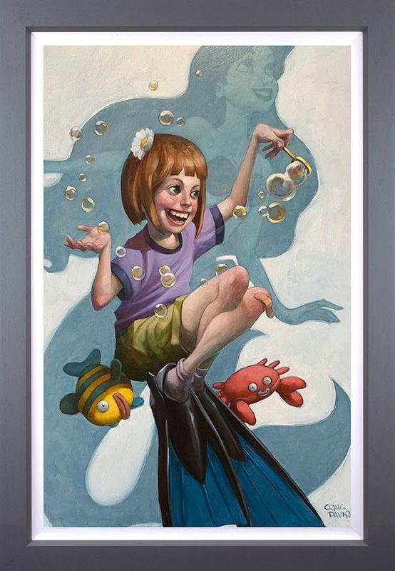 Under The Sea - Canvas - Grey - Framed by Craig Davison