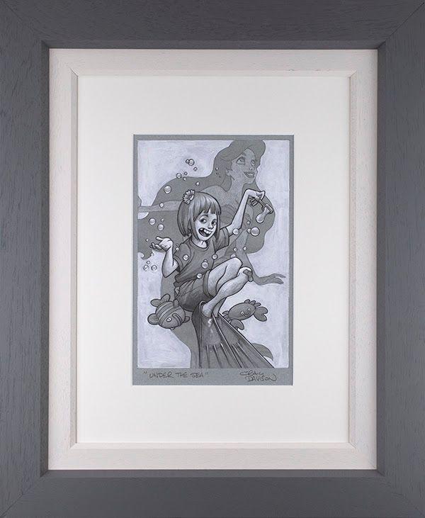 Under The Sea - Sketch - Original - Grey - Framed by Craig Davison