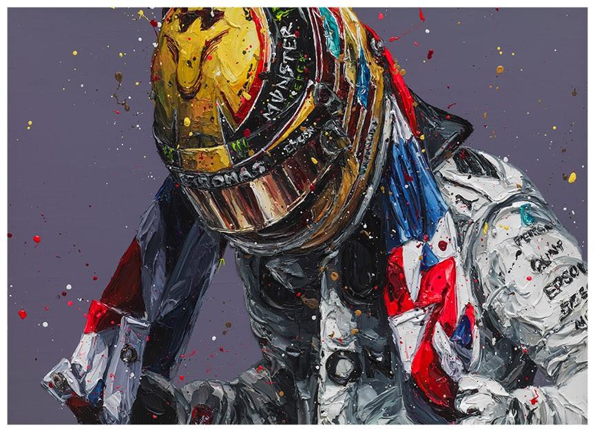 Union Lewis III (Lewis Hamilton) - Canvas  - Framed by Paul Oz