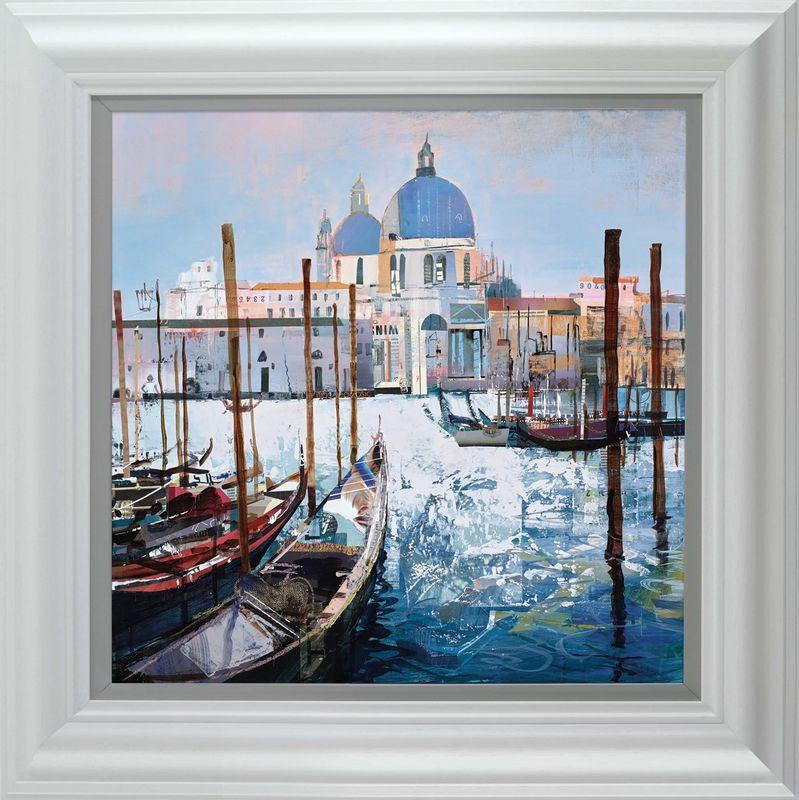 Venetian Vista - White - Framed by Tom Butler