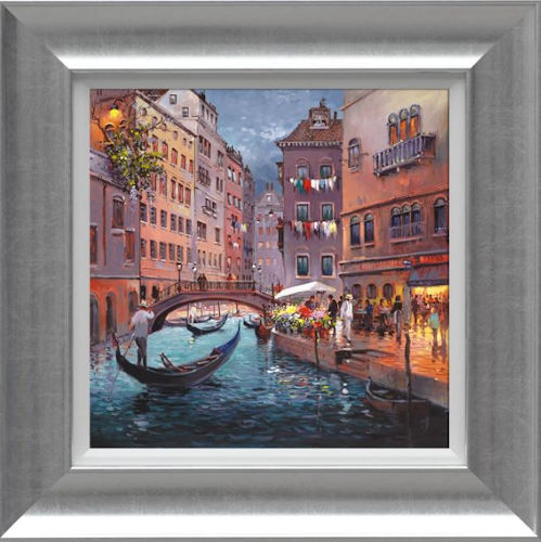 Venice By Night - Framed