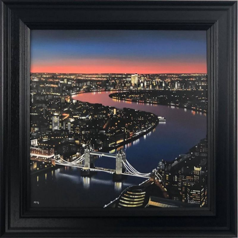View From The Shard - Canvas - Black - Framed by Neil Dawson