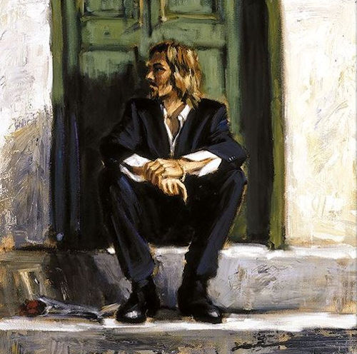 Waiting For The Romance To Come Back I - Board Only by Fabian Perez