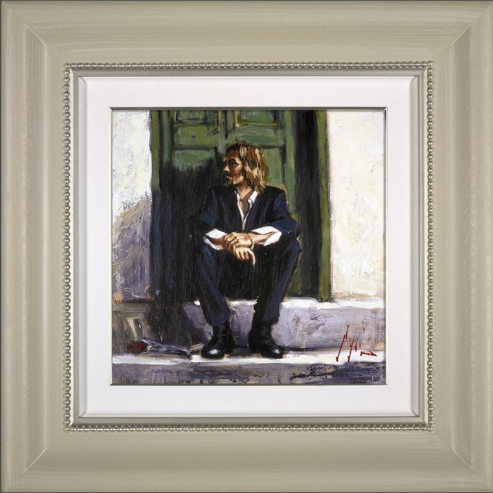 Waiting For The Romance To Come Back I - Deluxe Framed by Fabian Perez