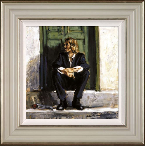 Waiting For The Romance To Come Back I - Framed by Fabian Perez