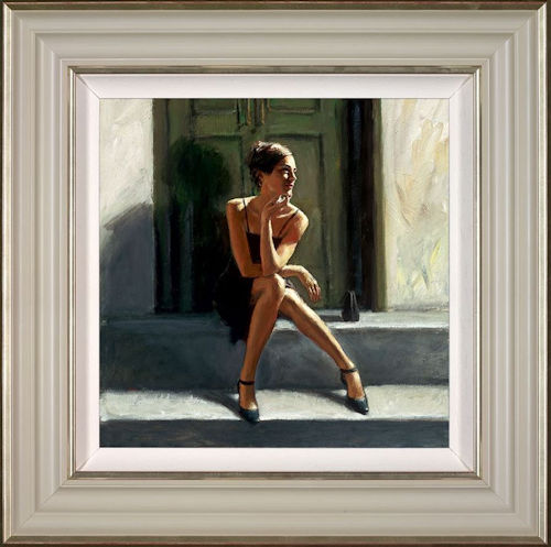 Waiting For The Romance To Come Back - Lucy -  Framed by Fabian Perez