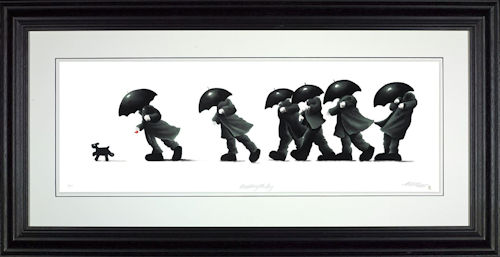 Walking The Dog - Framed by Mackenzie Thorpe